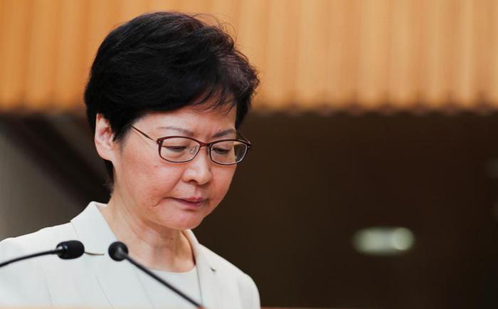 Trưởng đặc khu Hong Kong Carrie Lam trong cuộc họp báo ngày 5/9.