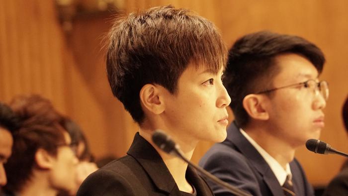 Ca sĩ Denise Ho điều trần trước Quốc Hội Mỹ hôm Thứ Ba, 17 Tháng Chín.