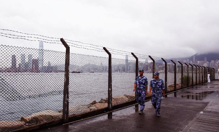 Căn cứ hải quân Stonecutters Hồng Kông. (Ảnh: AFP)