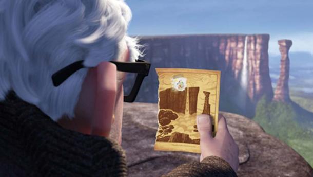 """Hình ảnh """"Thác Thiên Đường"""" trong bộ phim hoạt hình nổi tiếng """"Up"""". (Ảnh qua Ancient Origins)"""