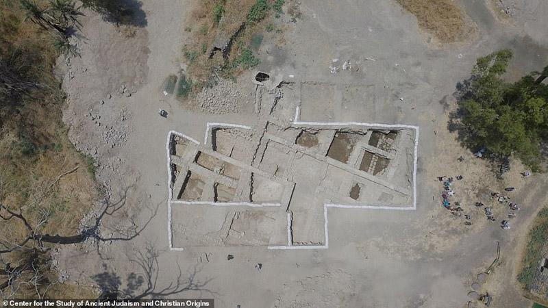 Ảnh chụp từ trên cao của khu vực khai quật tại el-Araj. (Ảnh: Zachary Wong)