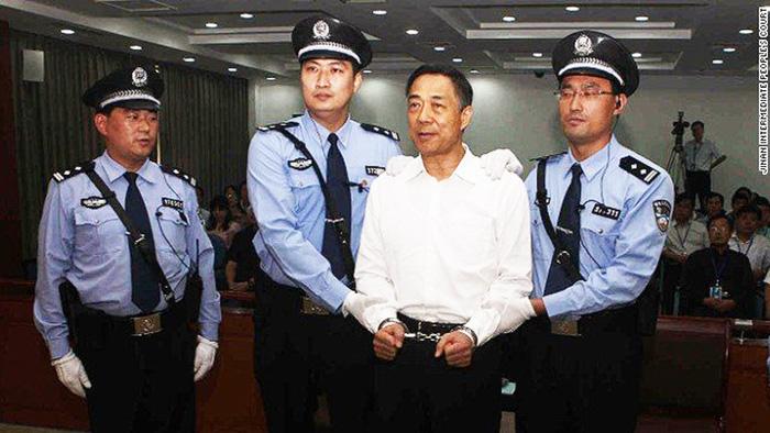 Tháng 9/2013, cựu Bí thư thành ủy Trùng Khánh Bạc Hy Lai nhận án chung thân với các tội danh tham nhũng, nhận hối lộ và lạm dụng quyền lực.