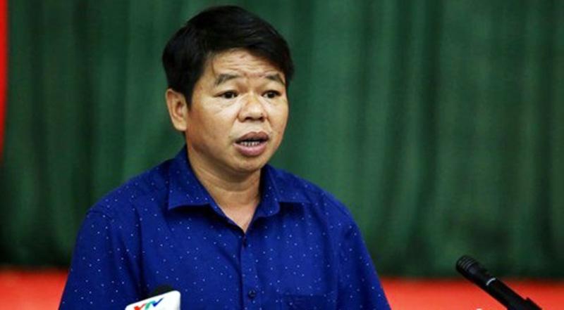 TGĐ Cty nước sạch Sông Đà Nguyễn Văn Tốn tại buổi giao ban báo chí chiều 15/10.