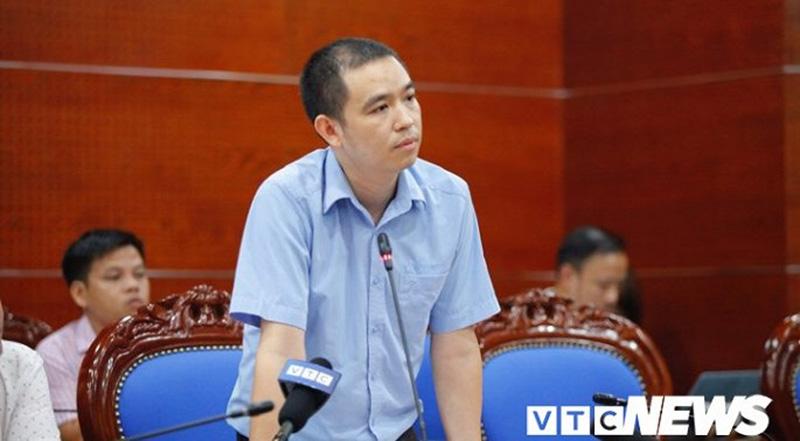 Ông Bùi Đăng Khoa, Phó Giám đốc Công ty nước sạch Sông Đà.