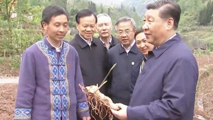 Trung tuần tháng 4/2019, Trần Mẫn Nhĩ, Lưu Hạc, Hồ Xuân Hoa đi cùng Tập Cận Bình thị sát Trùng Khánh.