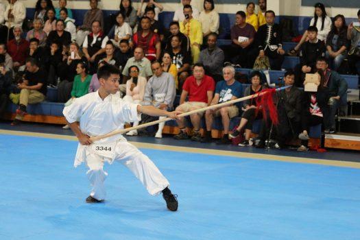 Liu Ta-Yen trong trận chung kết của cuộc thi Wushu NTD vào ngày 25 tháng 8 năm 2019.