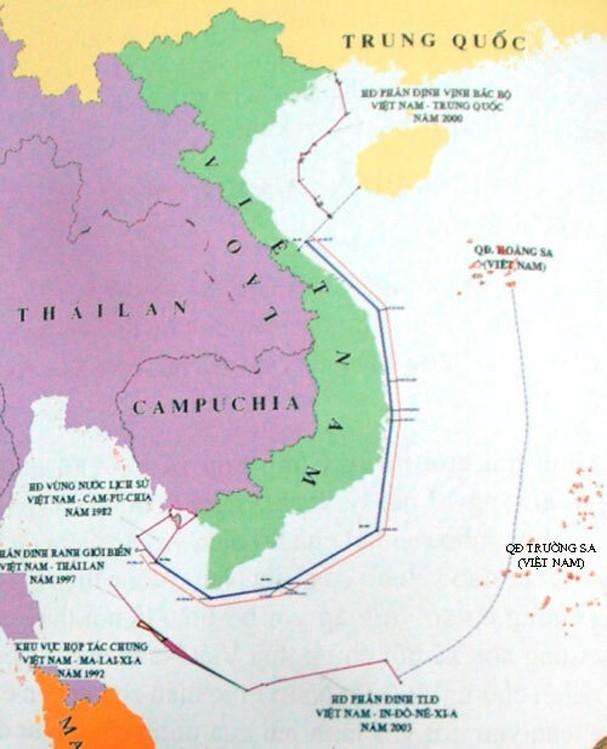 Các vùng biển của Việt Nam theo quy định của UNCLOS (Ảnh qua vnexpress).