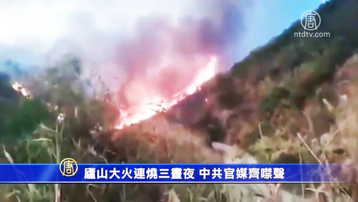 """Lư Sơn ở Giang Tây được xem là """"thánh địa cách mạng"""" đã phát sinh hỏa hoạn dữ dội, sau 3 ngày 3 đêm ngọn lửa vẫn chưa được khống chế."""