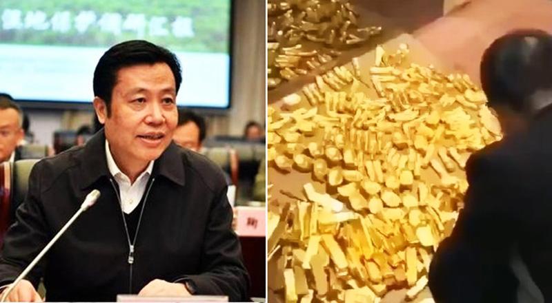 Cảnh sát phát hiện 13,5 tấn vàng và một khoản lớn tiền mặt, ước tính lên tới hàng tỷ USD trong một căn hầm bí mật của Bí thư thành ủy Trung Quốc.