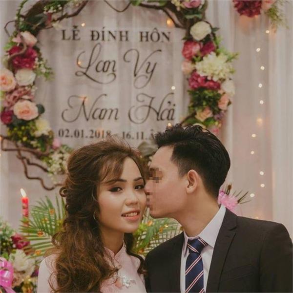 Lễ đính hôn của Vy và Hải. (Ảnh qua baodatviet)