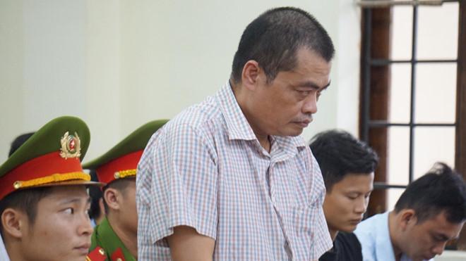 Bị cáo Nguyễn Thanh Hoài tại tòa.