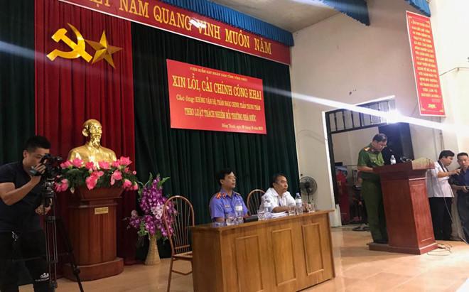 """Phó viện trưởng VKSND tỉnh Ngô Khương Tuyến thừa nhận cơ quan này đã có những """"sai sót dẫn đến hậu quả không ai mong muốn""""."""