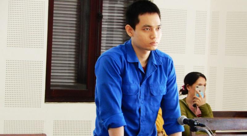 Bị cáo Nguyễn Trương Nam Hải bị tăng hình phạt từ 6 năm lên thành 8 năm tại phiên xử sơ thẩm ngày 24/10. (Ảnh qua vietnamnet)