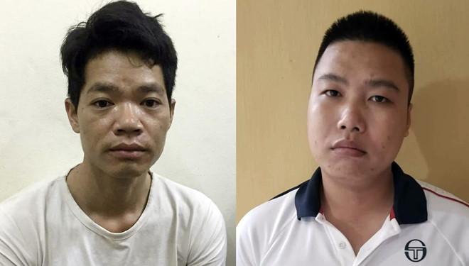 Hoàng Văn Thám (trái) và Nguyễn Chương Đại (phải) là 2 nghi can bị bắt trong vụ đổ trộm dầu thải gây ô nhiễm nguồn nước sông Đà. (Ảnh qua Zing)