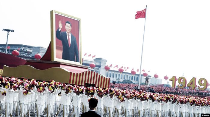 Lễ kỷ niệm 70 năm thành lập Cộng hòa Nhân dân Trung Hoa tại Quảng trường Thiên An Môn ngày 1/10/2019.