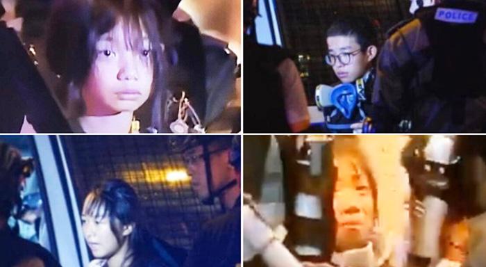 """Lượng lớn người trẻ tuổi bị bắt giữ sau khi """"Luật cấm che mặt"""" được thực thi từ ngày 5/10."""