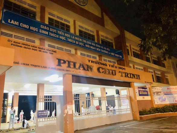 Trường tiểu học Phan Chu Trinh (Q. Tân Phú, TP. HCM), nơi xảy ra vụ việc. ( Ảnh qua tuoitre)