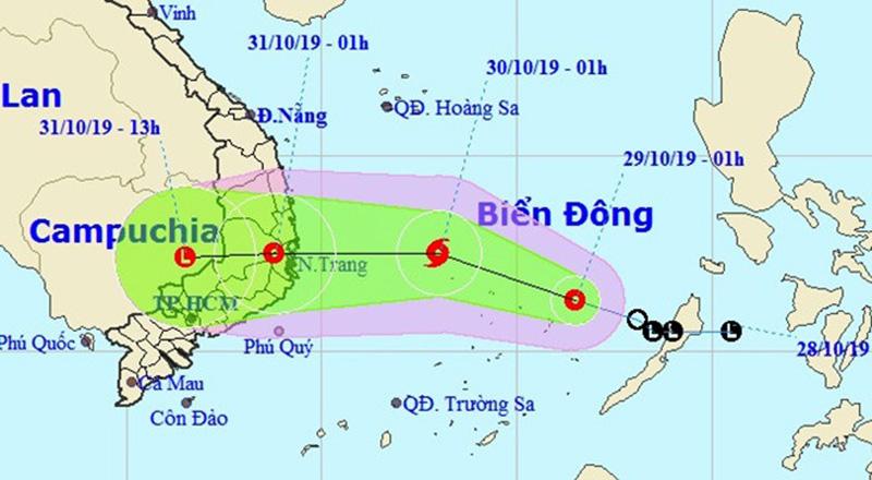 Vịnh Bắc Bộ và vùng biển từ Quảng Trị đến Quảng Ngãi dự kiến có gió mạnh cấp 6-7, giật cấp 9. Vùng biển Bình Định - Ninh Thuận có gió mạnh cấp 7, gần tâm bão cấp 8-9, giật cấp 11.