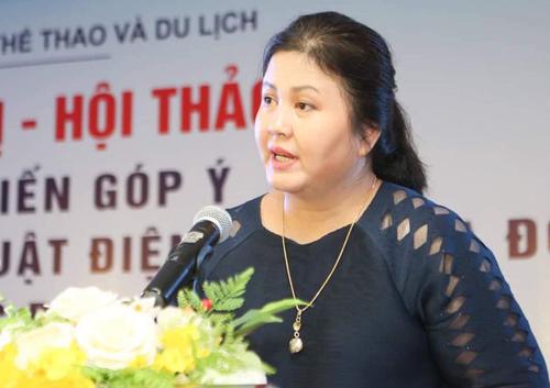 Bà Nguyễn Thị Thu Hà được bổ nhiệm Quyền Cục trưởng Điện ảnh từ tháng 1/2019. Trước đó, bà là hiệu trưởng trường Đại học sân khấu điện ảnh. (Ảnh qua VnExpress).