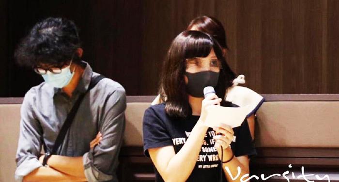 Nữ sinh từng bị bắt giam ở trại tập trung San Uk Lang, khẩn thiết yêu cầu hiệu trưởng trường ra mặt lên án những cảnh sát Hồng Kông có hành vi bạo lực tình dục.