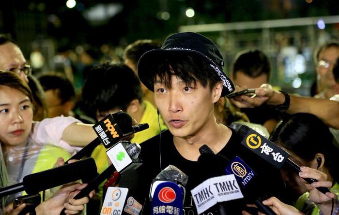 Sầm Tử Kiệt (Jimmy Sham) - một trong những người lãnh đạo Mặt trận Nhân dân về Nhân quyền Hồng Kông (FDC).