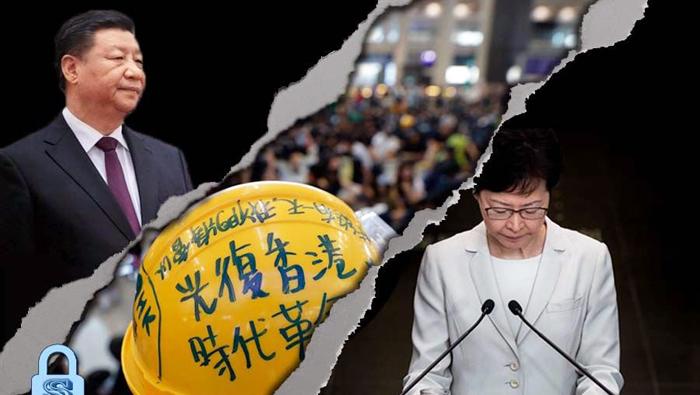"""Diễn biến tại Hồng Kông 4 tháng qua, tình thế rõ ràng cho thấy phương thức mà bà Lâm Trịnh và ĐCSTQ sử dụng không phải là """"chấm dứt bạo lực, khống chế bạo loạn"""" mà là """"dùng bạo lực để tạo ra bạo loạn""""."""