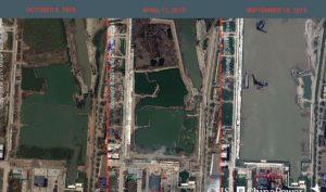 Hình ảnh vệ tinh tiết lộ công xưởng tàu sân bay 'siêu trọng' của Trung Quốc