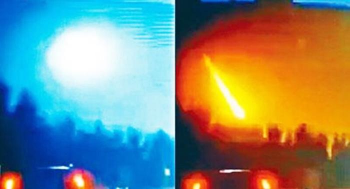 Rạng sáng ngày 11/10, một thiên thạch bất ngờ rơi xuống phía Đông Bắc tỉnh Cát Lâm và tỉnh Hắc Long Giang. (Ảnh: NTDTV)