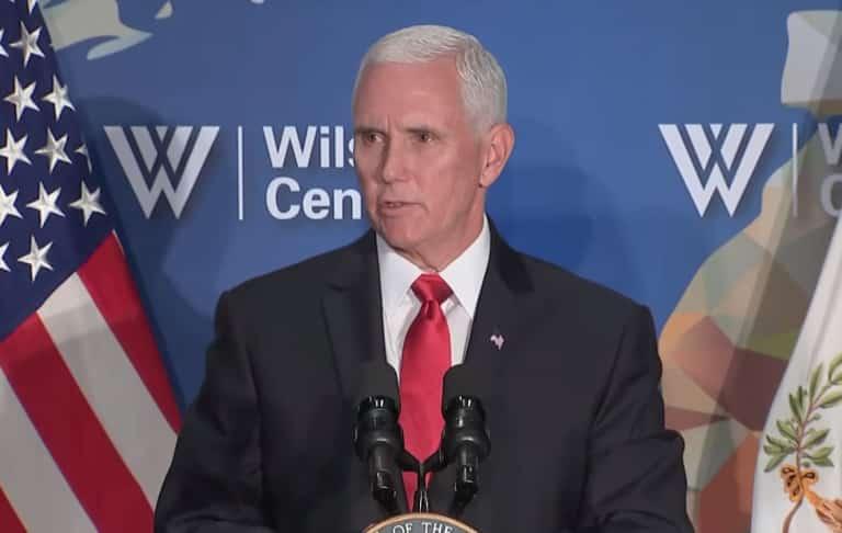 Phó Tổng thống Mỹ Mike Pence phát biểu về quan hệ Mỹ-Trung tại Trung Tâm Woodrow Wilson hôm 24/10.