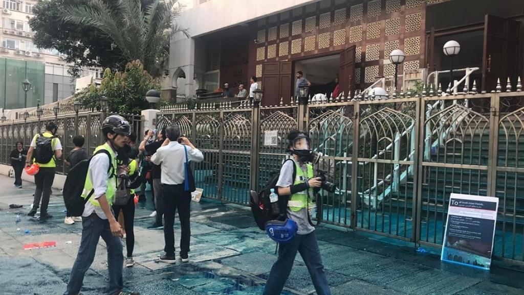 Tấn công nhà thờ Hồi giáo, cảnh sát Hồng Kông ngày càng vô sỉ (ảnh 2)
