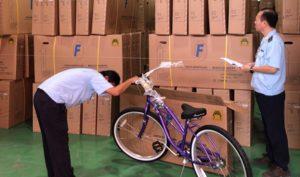 Phát hiện xe đạp Trung Quốc dán nhãn 'made in Vietnam' chuẩn bị xuất sang Mỹ