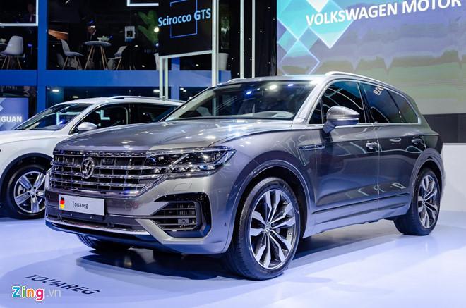 Mẫu Volkswagen Touareg trưng bày tại VMS 2019 được nhập khẩu từ Trung Quốc.