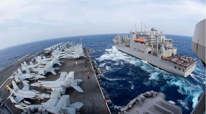 Tàu sân bay USS Ronald Reagan. (Ảnh qua RFA)