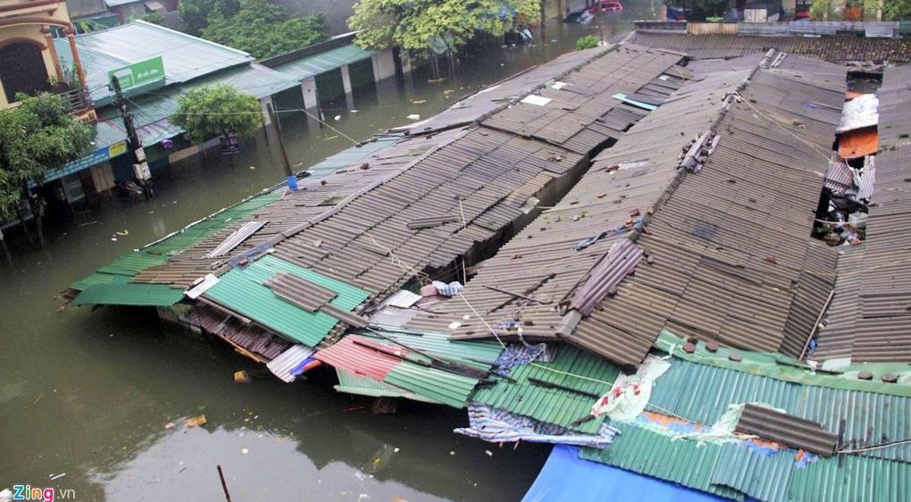 Hình ảnh ngập lụt ở Đồng Bằng Sông Cửu Long, Việt Nam. (Ảnh qua vietnammoi)