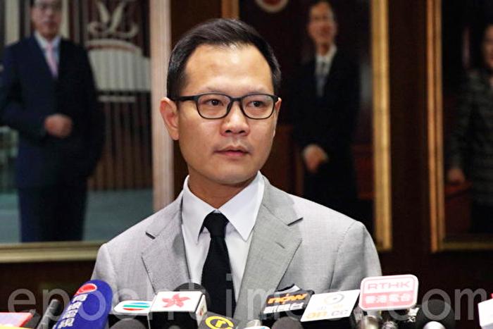 Quách Vinh Khanh - nghị viên Hội đồng Lập pháp của Đảng Công dân kêu gọi người dân Hồng Kông không thể lơ là.