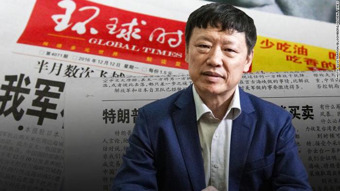 Ông Hồ Tích Tiến (Hu Xijin), Tổng biên tập của tờ Thời báo Hoàn Cầu - phụ bản của tờ Nhân Dân Nhật báo, cơ quan ngôn luận của đảng Cộng sản Trung Quốc.