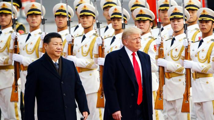 Chủ tịch Trung Quốc Tập Cận Bình và Tống thống Mỹ Donald Trump.