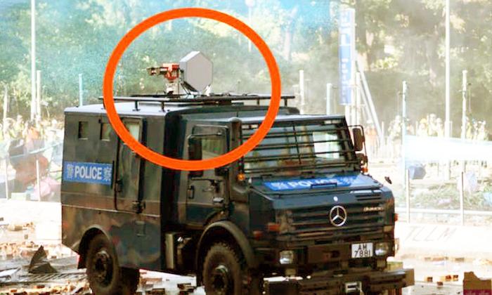 Có phương tiện truyền thông Hồng Kông còn cho rằng, khi thiết bị được khởi động ở cự li gần, thính giác của người nghe ngay lập tức bị tổn thương.