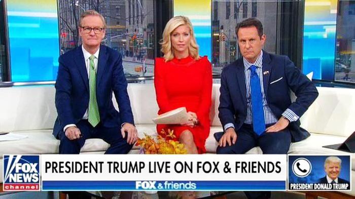 Tổng thống Mỹ Donald Trump có cuộc trả lời phỏng vấn qua điện thoại trên kênh Fox sáng 22/11.