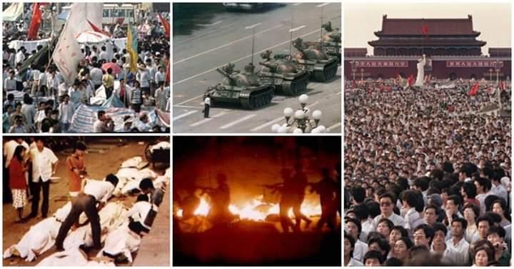 Hỏi rằng 30 năm trước những người trên quảng trường Thiên An Môn đi đòi quyền lợi của họ theo đúng luật pháp thì tội gì mà bị nghiền nát bằng xe tăng?