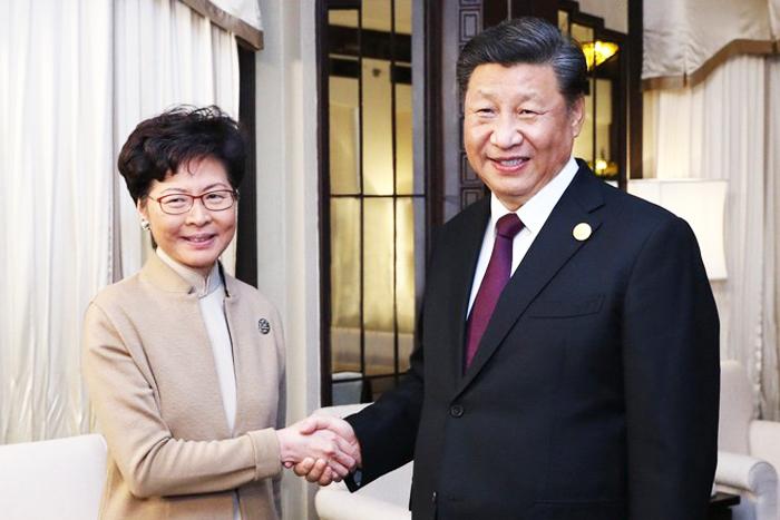 Chủ tịch Tập Cận Bình đã gặp đặc khu trưởng Hồng Kông Carrie Lam.