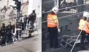 Cảnh sát Hồng Kông dùng tàu điện áp giải người biểu tình, liệu có phải đưa sang Đại lục?