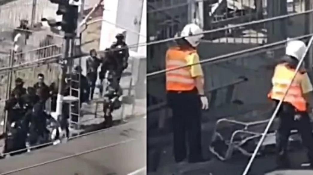 Cảnh sát Hồng Kông dùng tàu điện áp giải người biểu tình (ảnh 1)