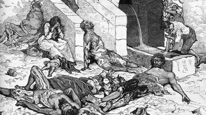 Đại dịch Cái chết Đen ở châu Âu trong thế kỷ 14.