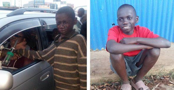 Cậu bé ăn xin khóc nức nở vì thấy người giàu có còn khổ hơn mình