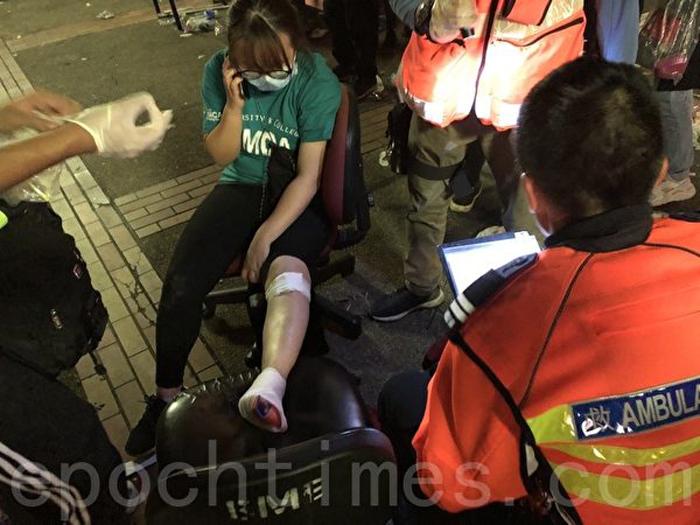 Ngày 19/11/2019, nhiều nhân viên cứu thương, cứu hỏa, đội cứu thương St. John, đã đến PolyU để giải cứu, đưa nhiều thanh niên bị thương rời trường