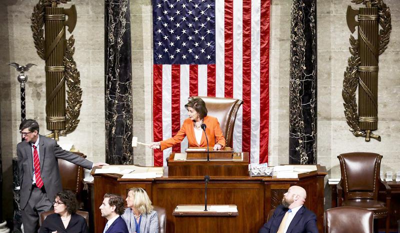 Chủ tịch Hạ viện Nancy Pelosi.