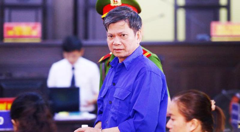 Bị can Lò Văn Huynh tại phiên tòa sơ thẩm.