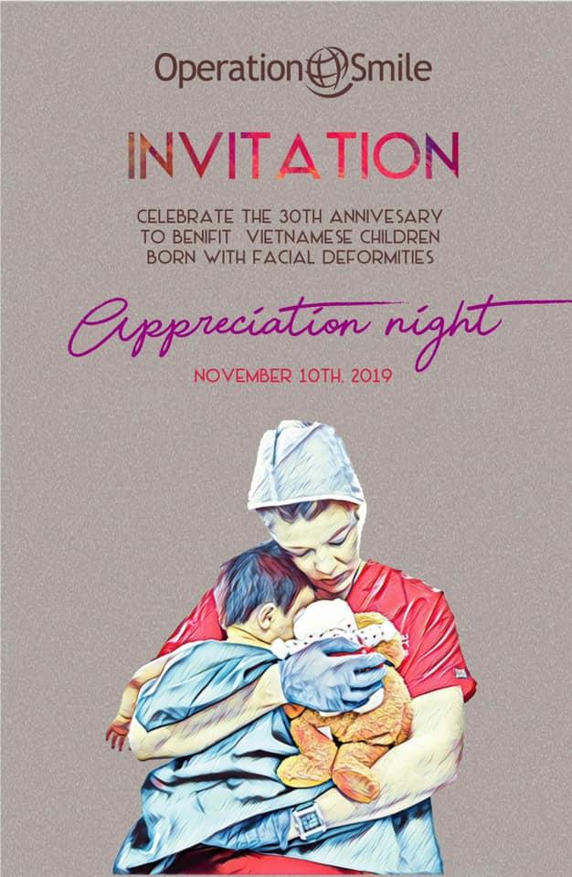 Poster mới thay thế poster có hình ảnh Thành Long của Operation Smile Việt Nam.