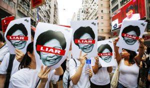 """Trưởng Đặc khu Hồng Kông tuyên bố người biểu tình là """"kẻ thù nhân dân"""""""